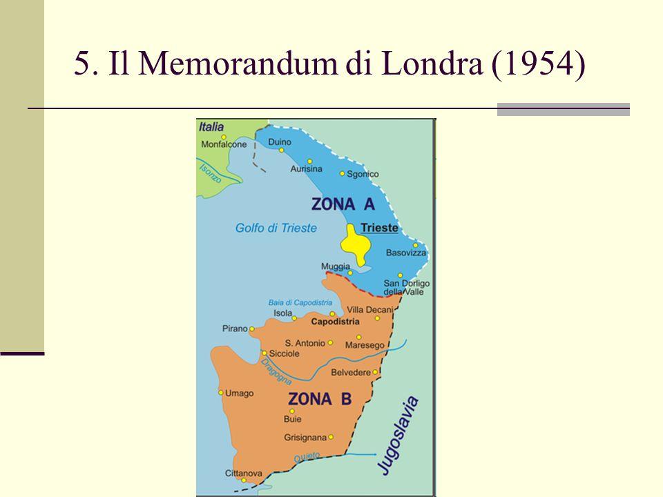 5. Il Memorandum di Londra (1954)