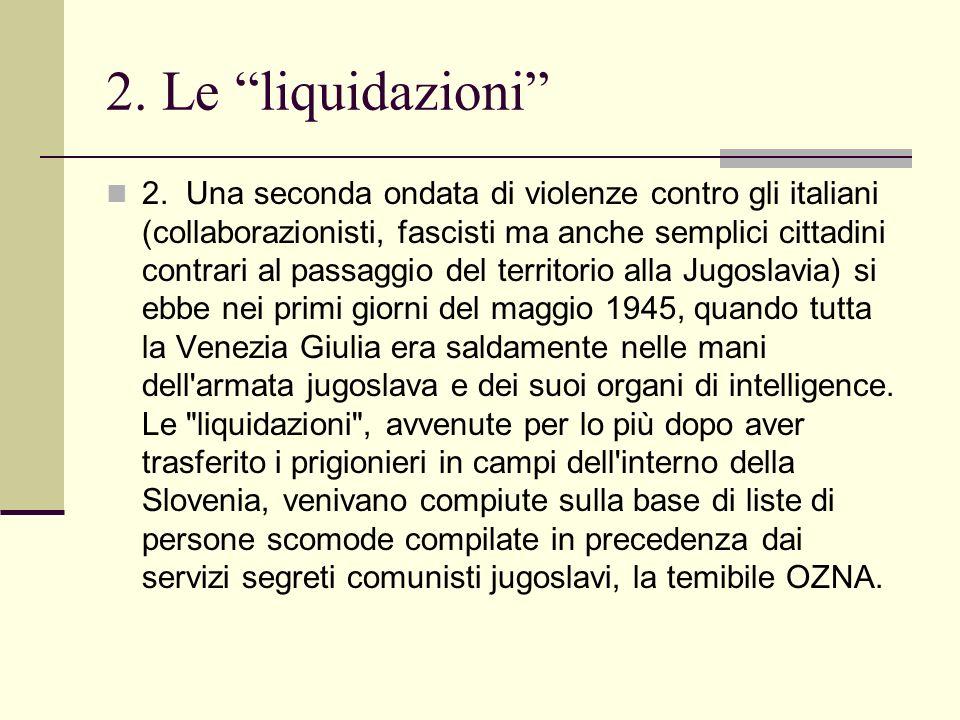 2. Le liquidazioni
