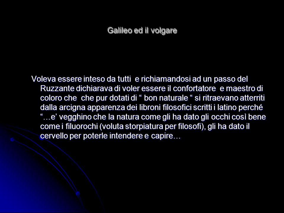 Galileo ed il volgare
