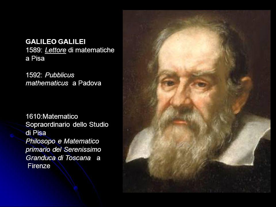 1589: Lettore di matematiche a Pisa