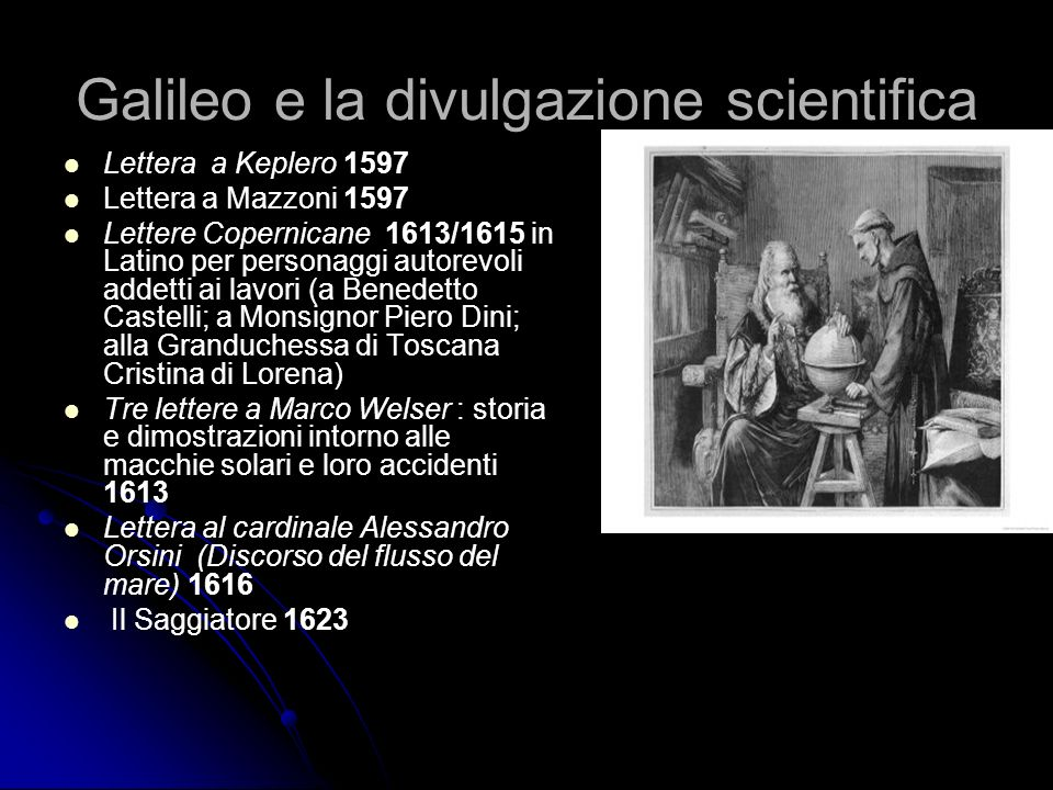 Galileo e la divulgazione scientifica