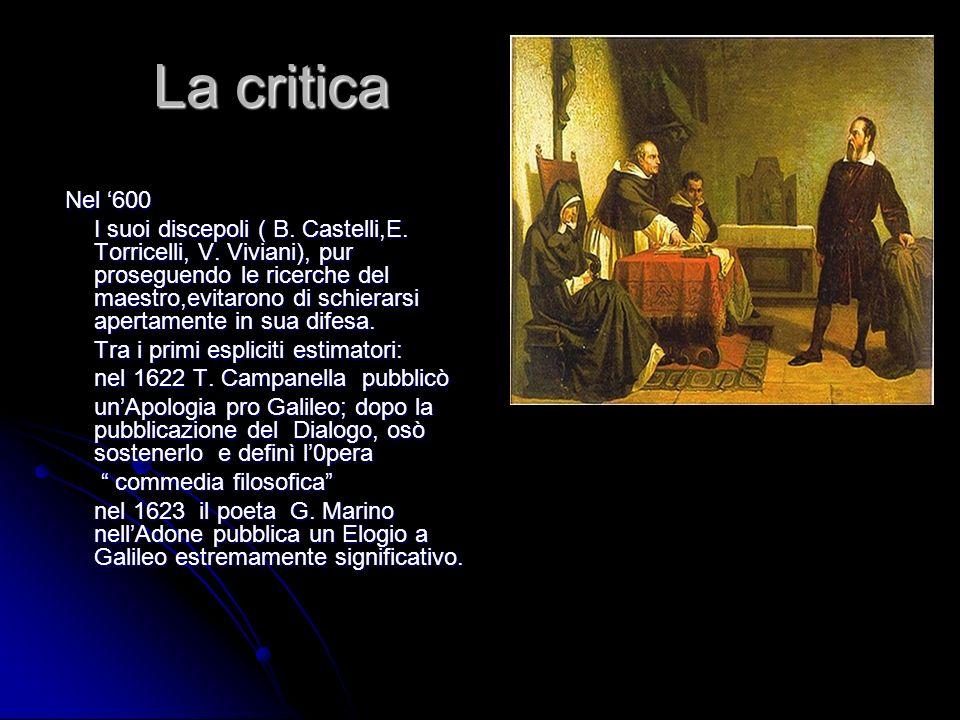 La critica Nel '600.