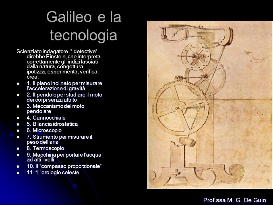 Galileo e la tecnologia