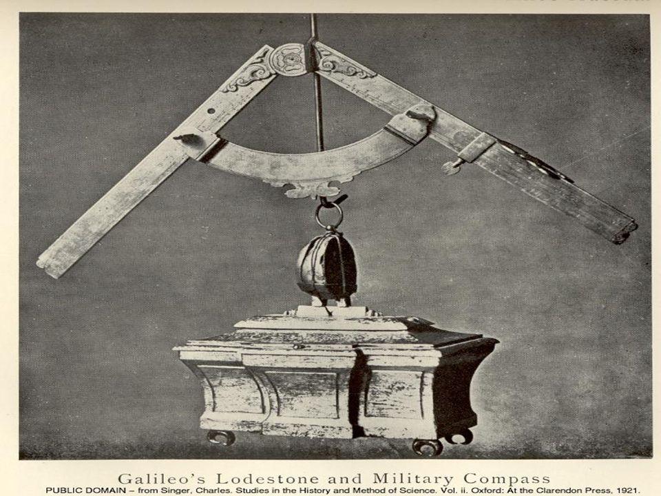 Compasso di Galileo, più perfezionato e comodo dei precedenti, funziona da regolo calcolatore