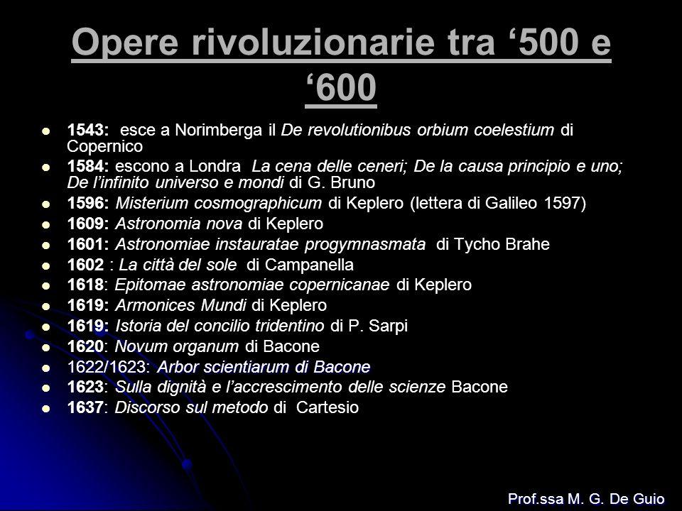Opere rivoluzionarie tra '500 e '600