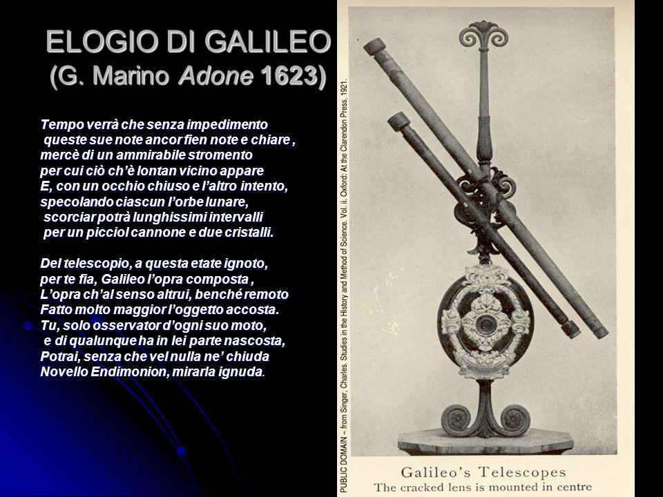 ELOGIO DI GALILEO (G. Marino Adone 1623)