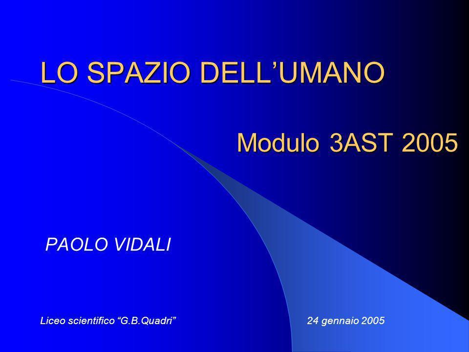 LO SPAZIO DELL'UMANO Modulo 3AST 2005