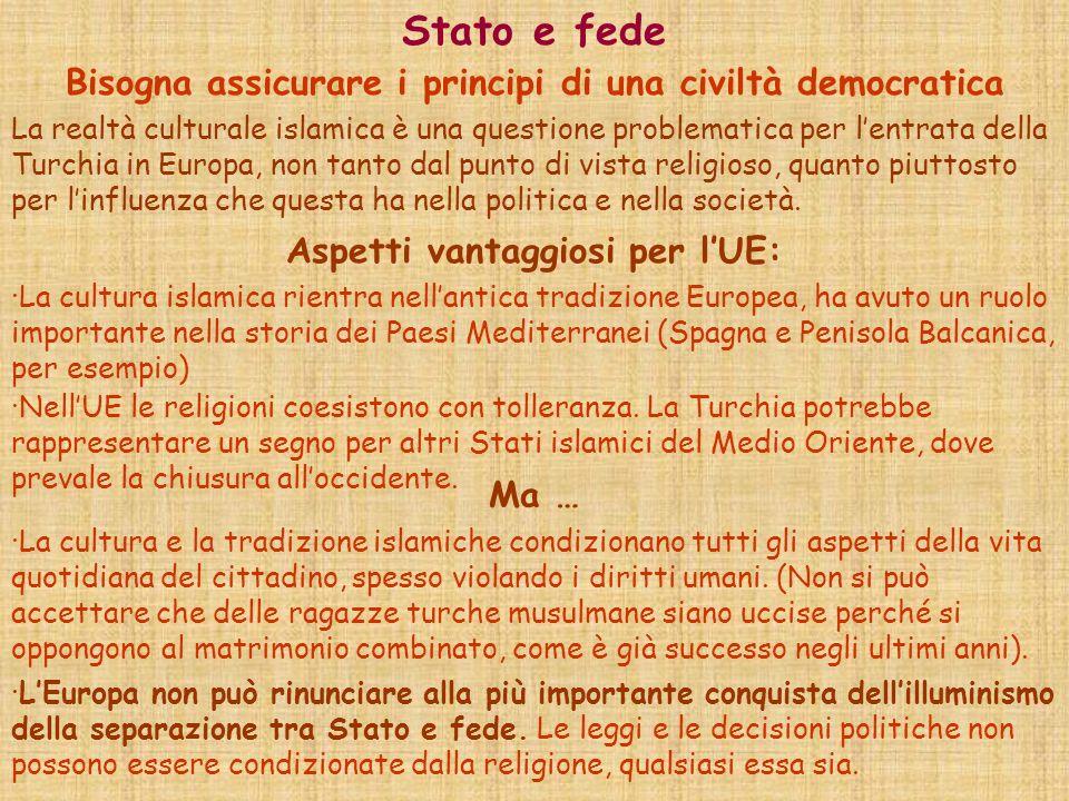 Stato e fede Bisogna assicurare i principi di una civiltà democratica