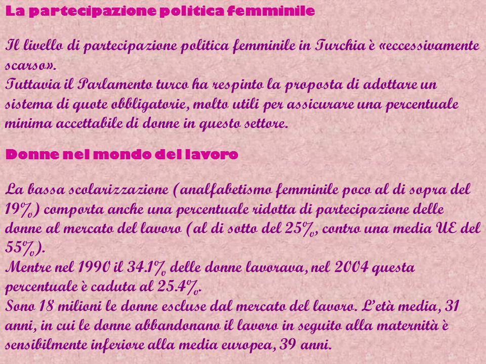 La partecipazione politica femminile