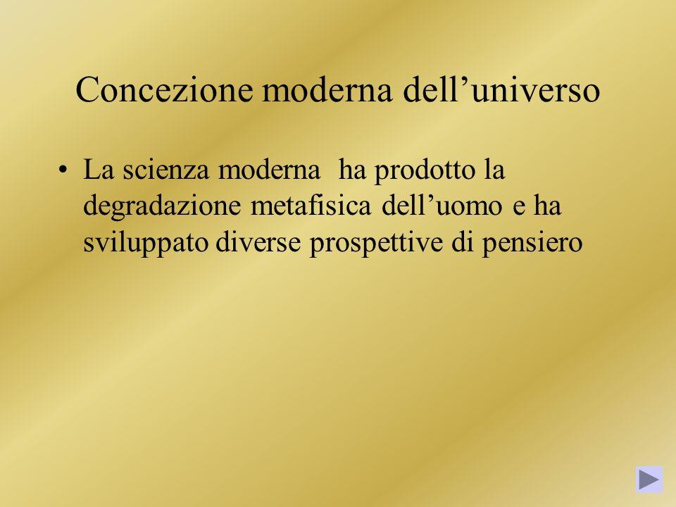 Concezione moderna dell'universo
