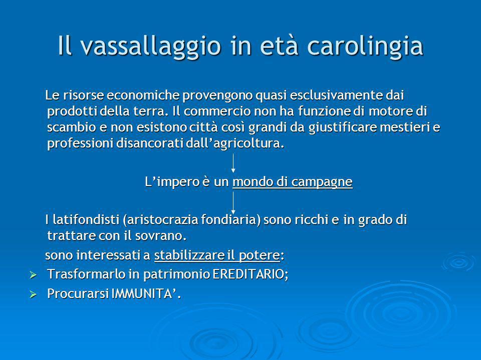 Il vassallaggio in età carolingia
