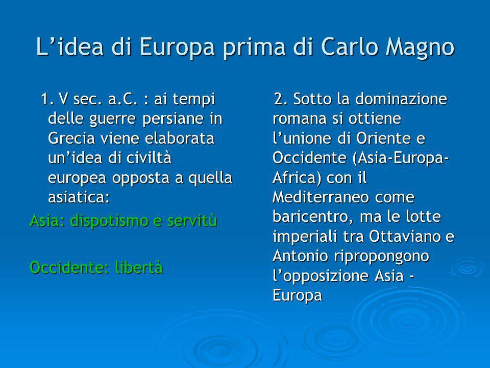 L'idea di Europa prima di Carlo Magno