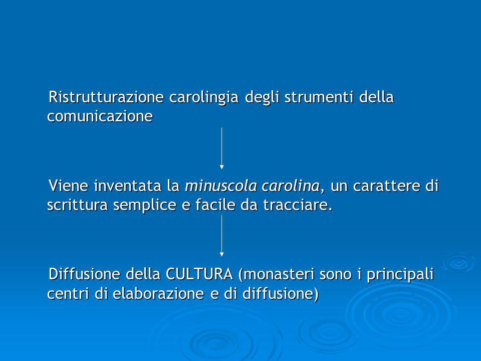Ristrutturazione carolingia degli strumenti della comunicazione
