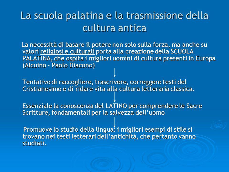 La scuola palatina e la trasmissione della cultura antica