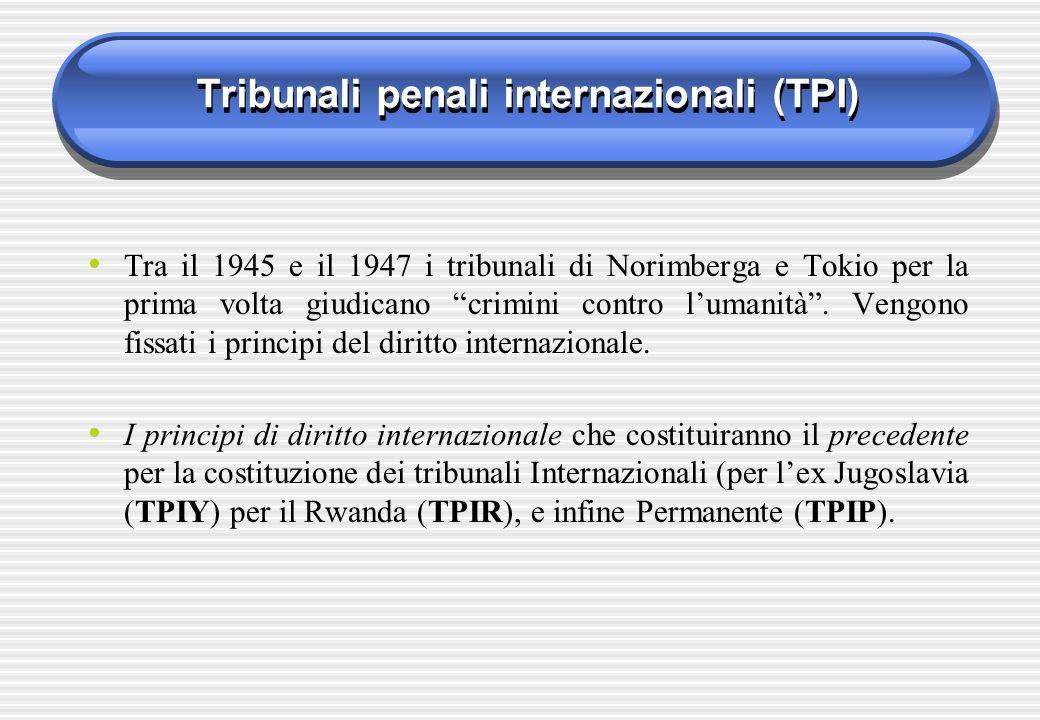 Tribunali penali internazionali (TPI)