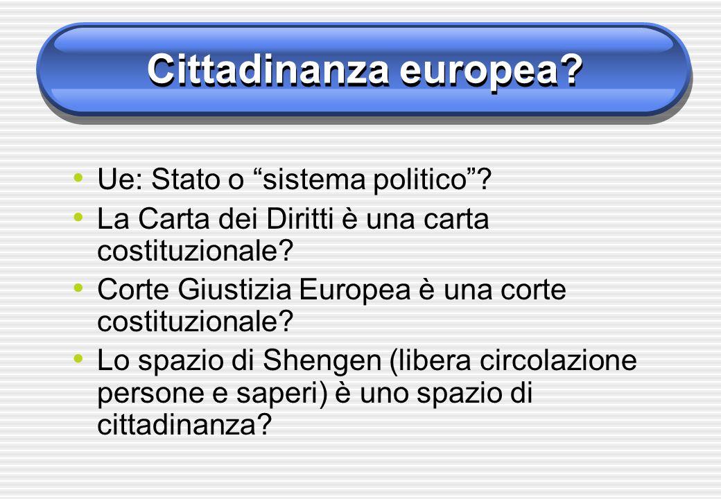 Cittadinanza europea Ue: Stato o sistema politico