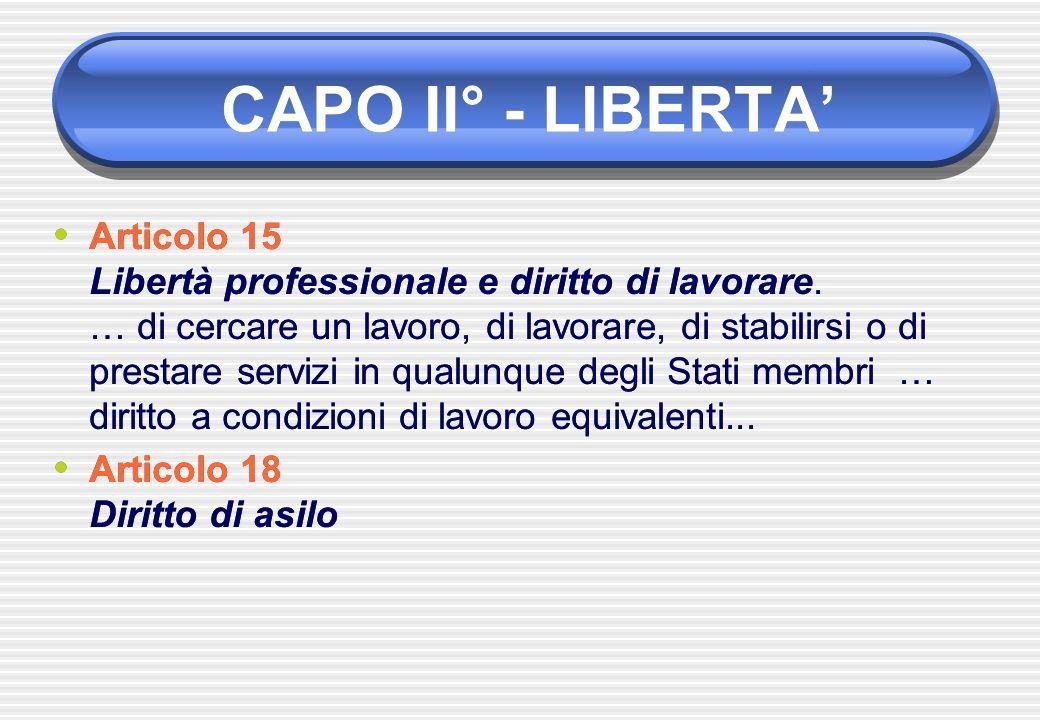 CAPO II° - LIBERTA'