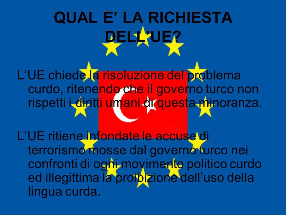 QUAL E' LA RICHIESTA DELL'UE