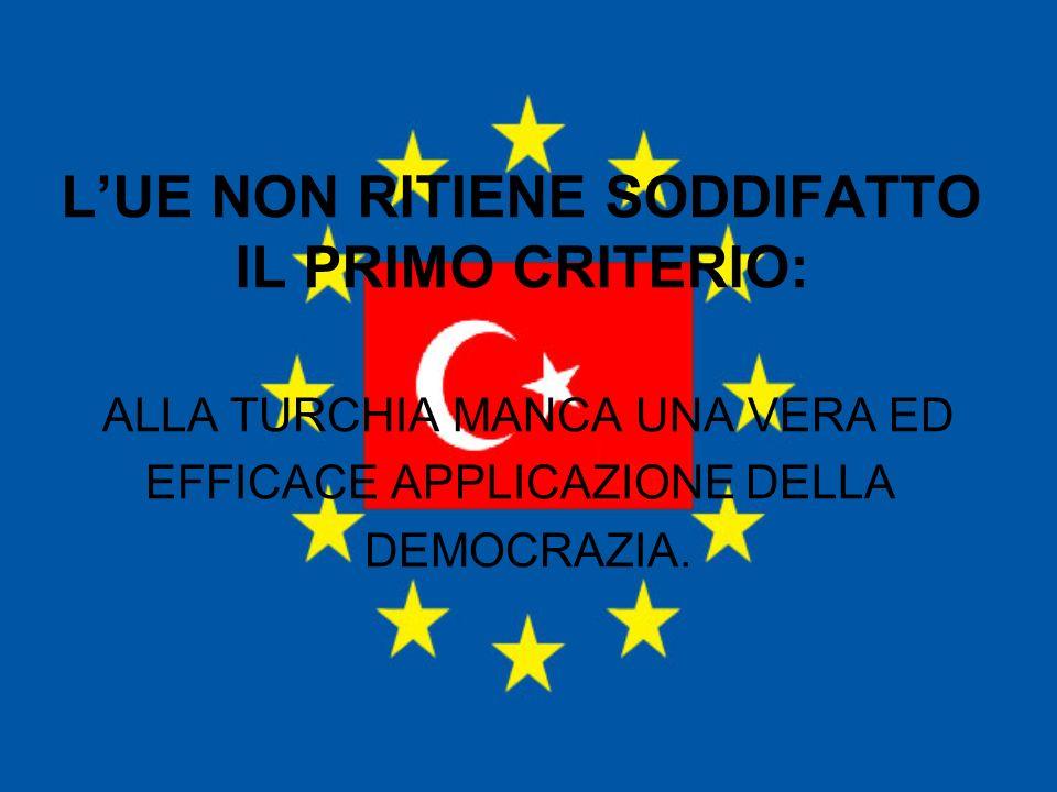 L'UE NON RITIENE SODDIFATTO IL PRIMO CRITERIO: