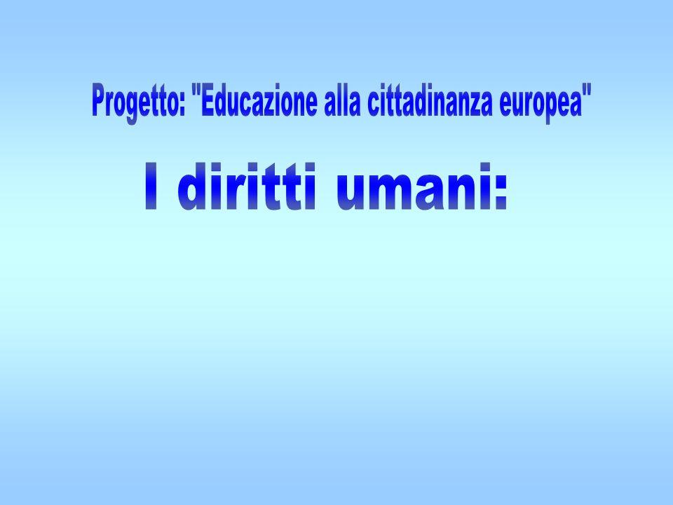 Progetto: Educazione alla cittadinanza europea