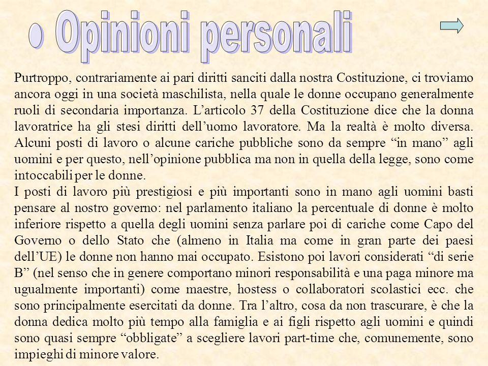 ● Opinioni personali
