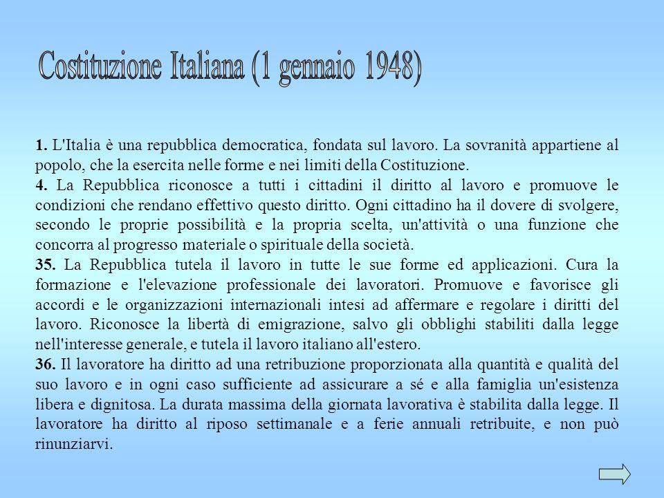Costituzione Italiana (1 gennaio 1948)