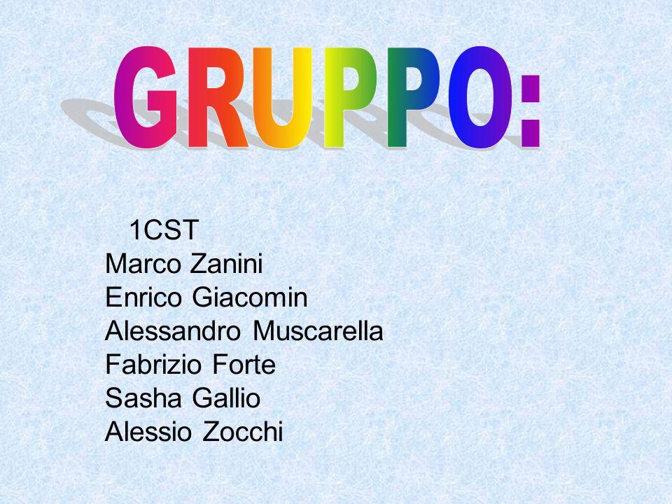GRUPPO: 1CST Marco Zanini Enrico Giacomin Alessandro Muscarella