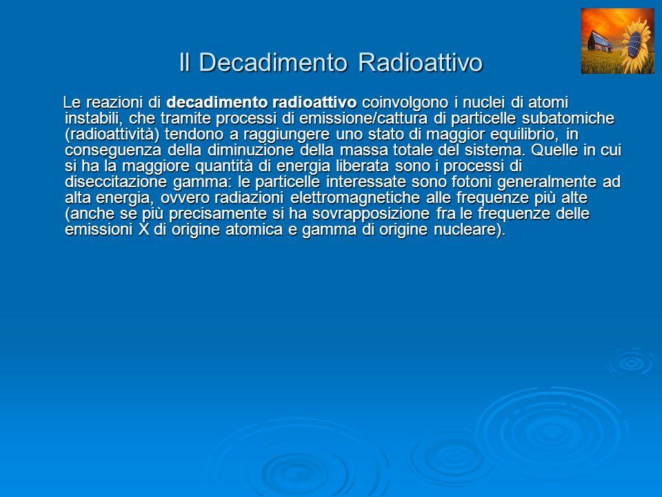 Il Decadimento Radioattivo