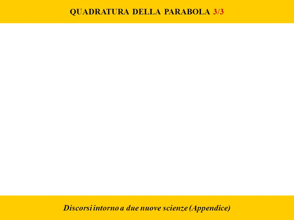 QUADRATURA DELLA PARABOLA 3/3
