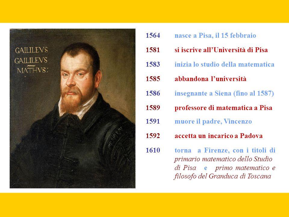 1564 nasce a Pisa, il 15 febbraio
