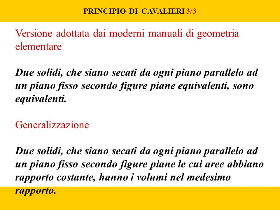 PRINCIPIO DI CAVALIERI 3/3