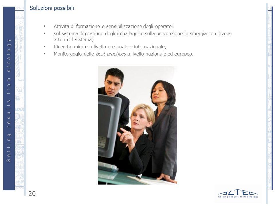 Soluzioni possibili Attività di formazione e sensibilizzazione degli operatori.