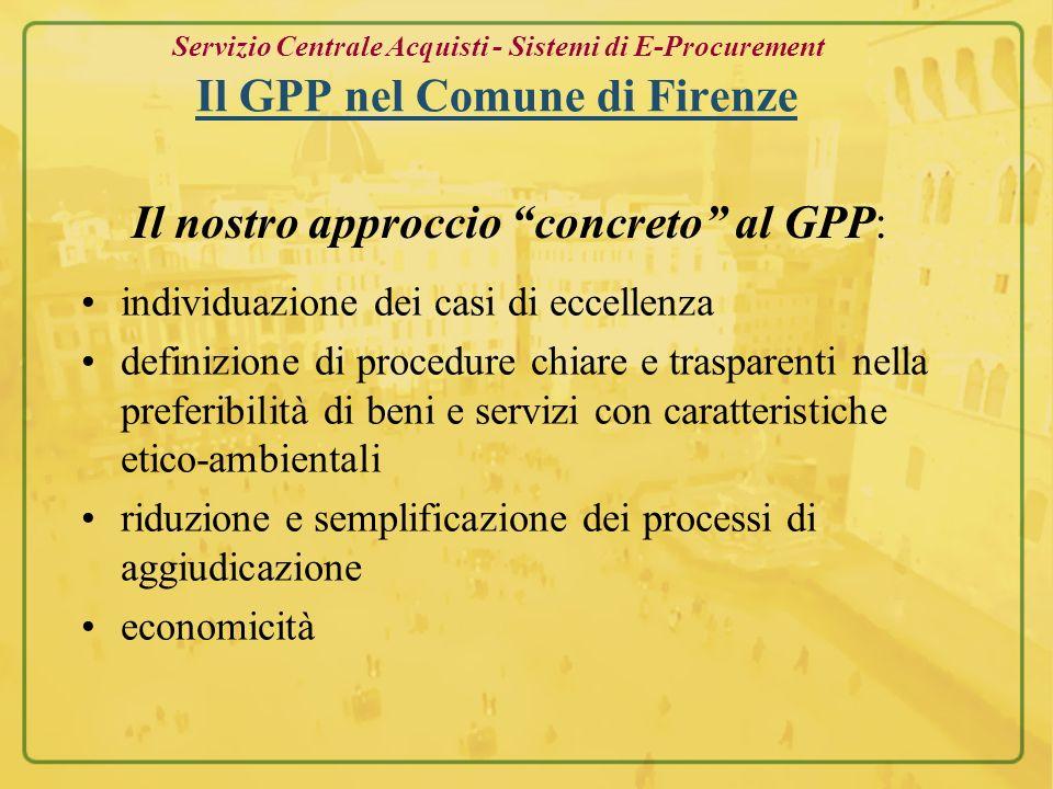 Il nostro approccio concreto al GPP: