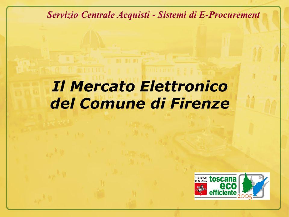Il Mercato Elettronico del Comune di Firenze