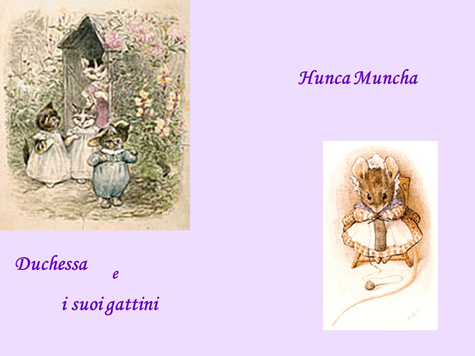 Hunca Muncha Duchessa e i suoi gattini