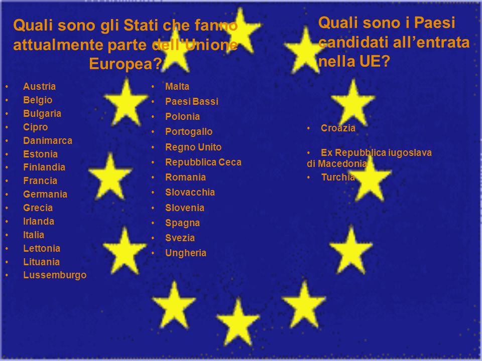Quali sono gli Stati che fanno attualmente parte dell'Unione Europea