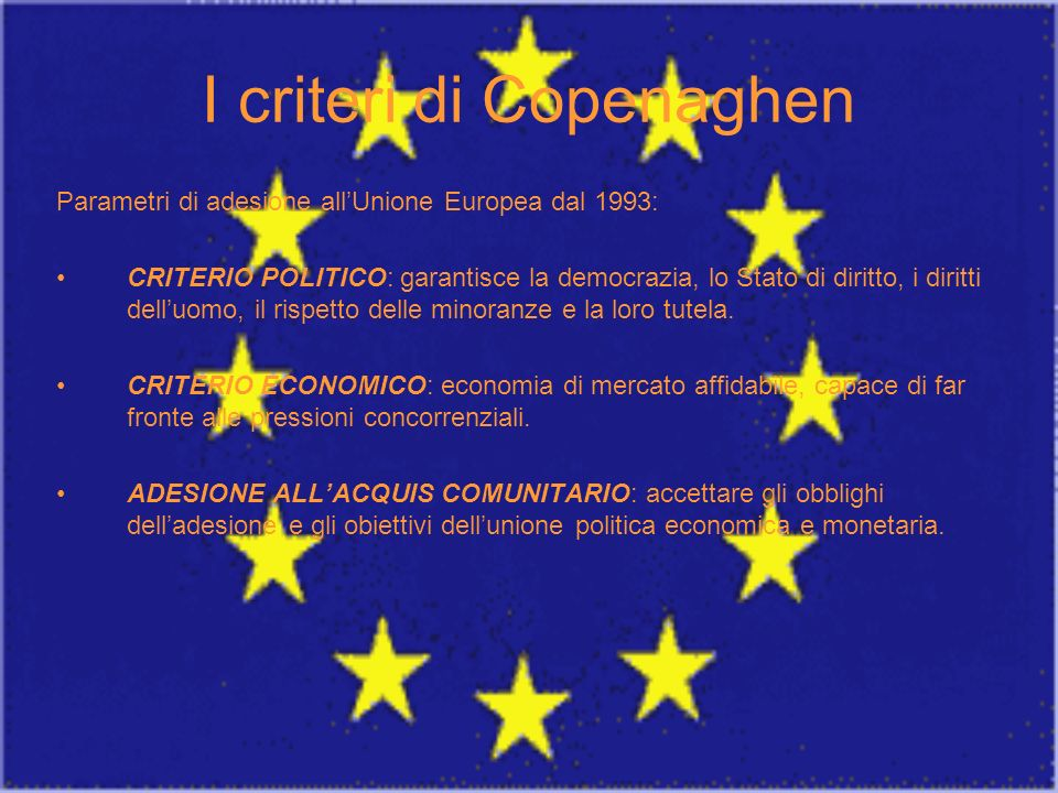 I criteri di Copenaghen