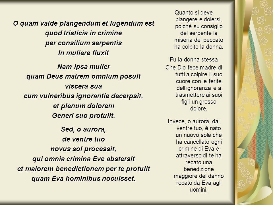 O quam valde plangendum et lugendum est quod tristicia in crimine