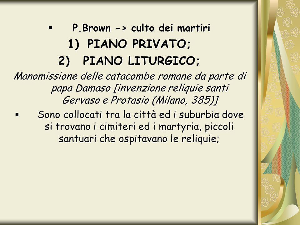 P.Brown -> culto dei martiri
