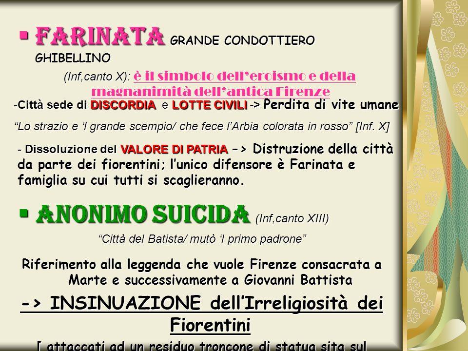 FARINATA GRANDE CONDOTTIERO GHIBELLINO