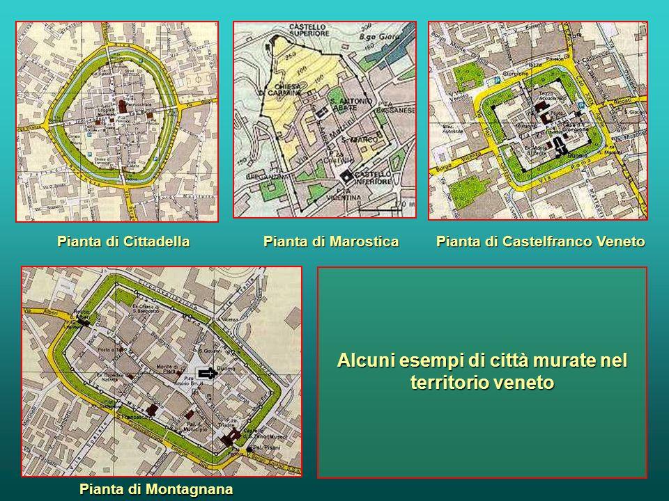 Alcuni esempi di città murate nel territorio veneto