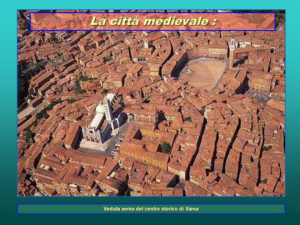 Veduta aerea del centro storico di Siena