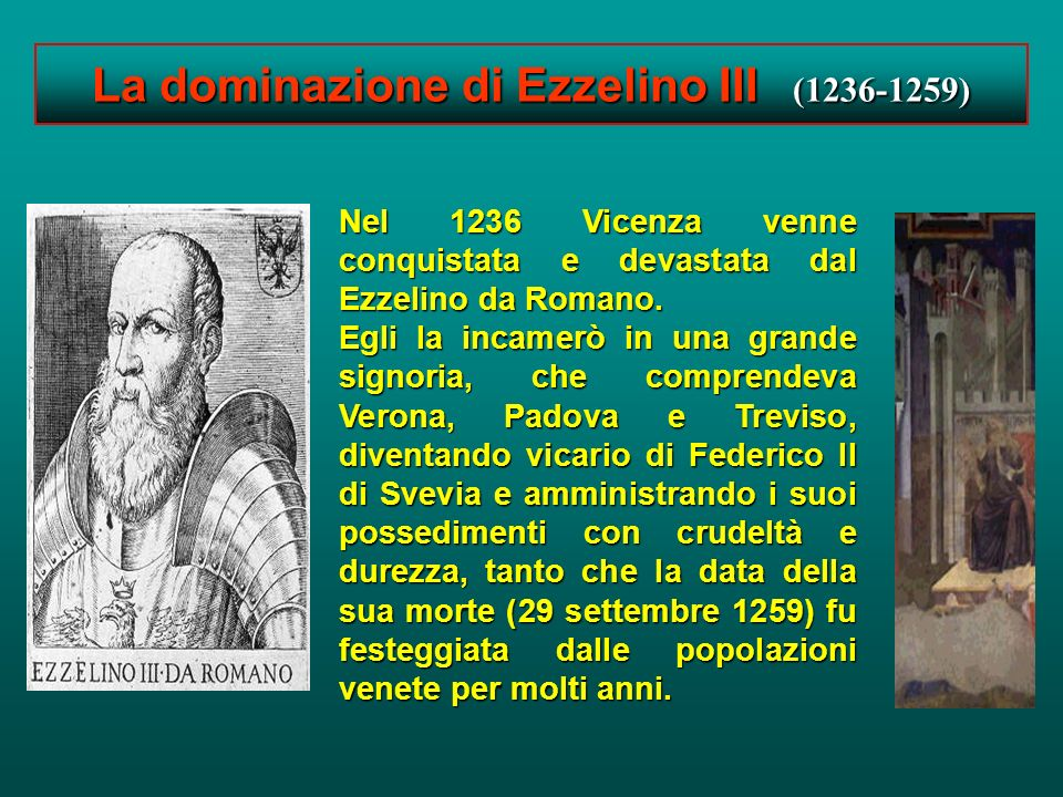 La dominazione di Ezzelino III (1236-1259)