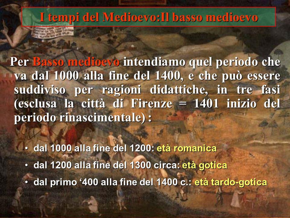 I tempi del Medioevo:Il basso medioevo