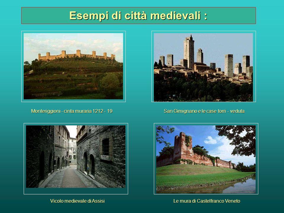 Esempi di città medievali :