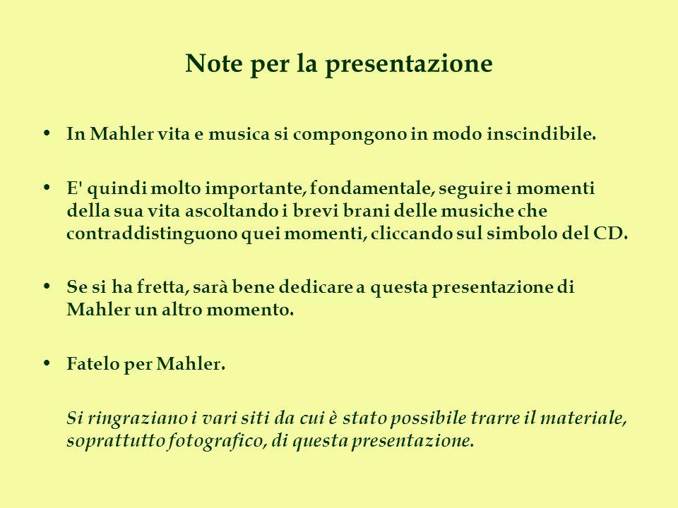 Note per la presentazione