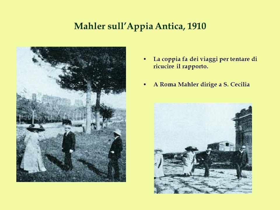 Mahler sull'Appia Antica, 1910