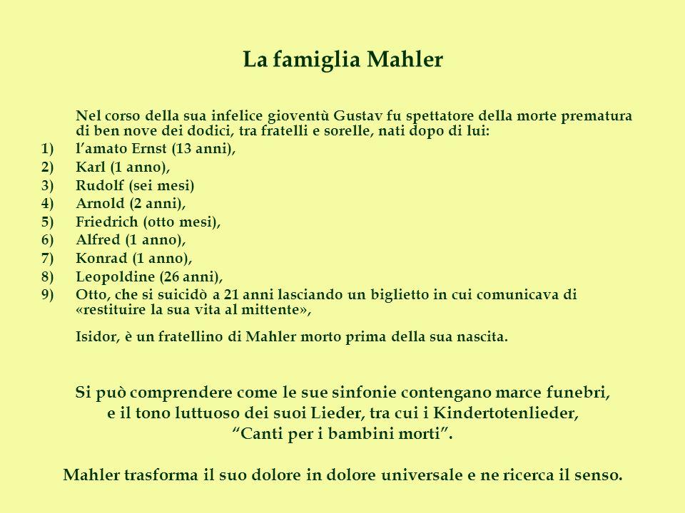 La famiglia Mahler