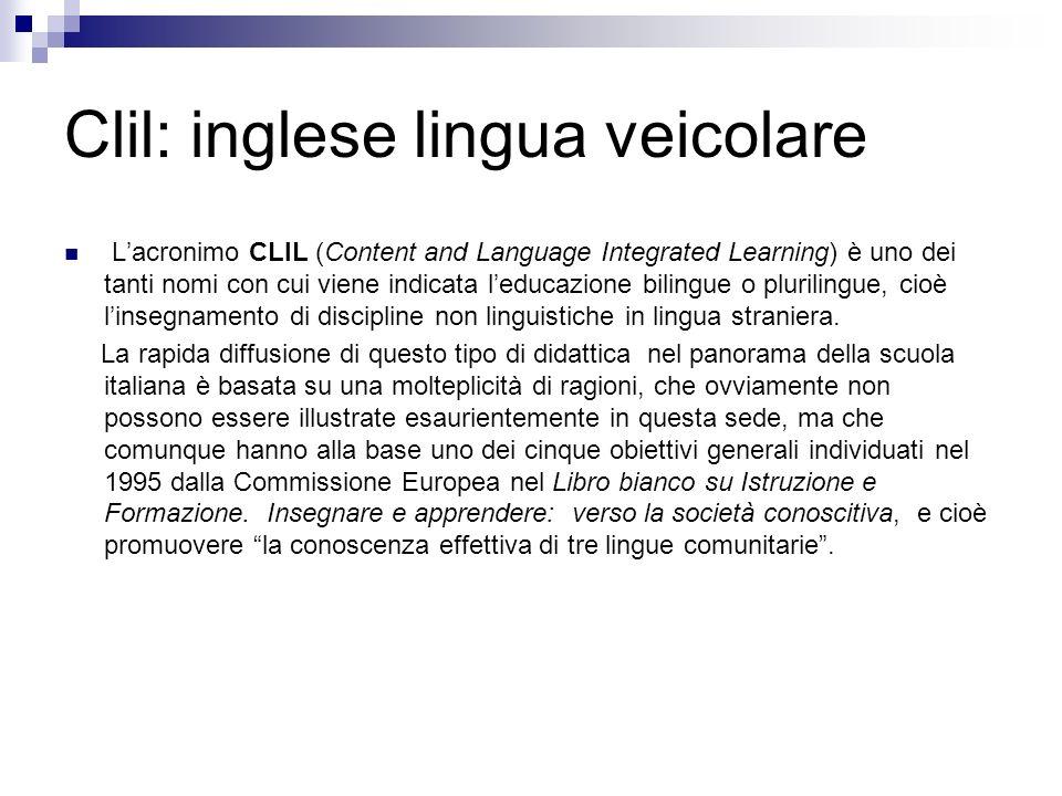 Clil: inglese lingua veicolare