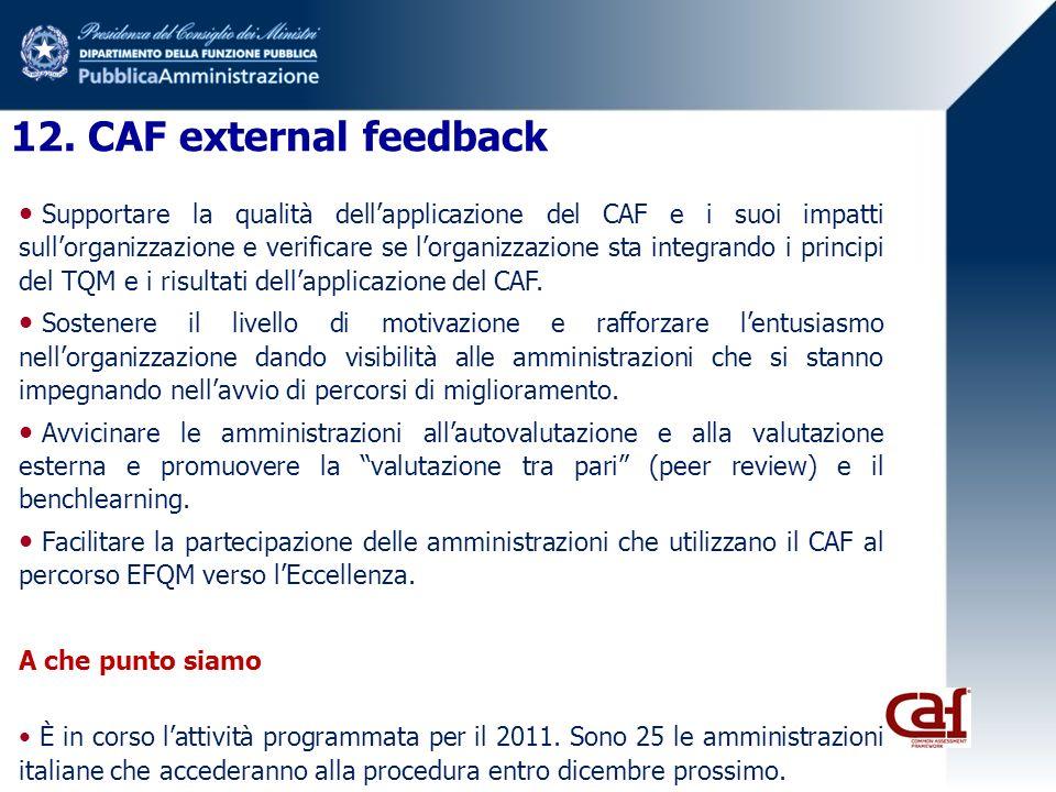 12. CAF external feedback